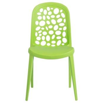 Трапезен стол Carmen 9940, полипропилен, полипропиленова база, зелен image