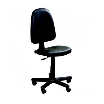 Офис стол PRESTIGE V14, еко кожа, регулиране височина, газов амортиьор, черен image