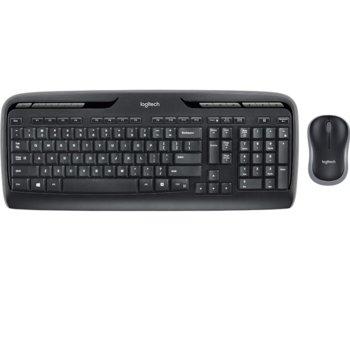 Комплект клавиатура и мишка Logitech MK330 GR (920-00397), безжични, USB, гръцка подредба на клавиатурата, черни image