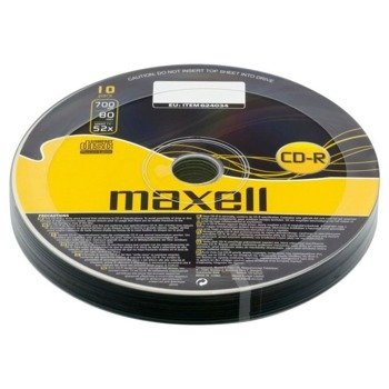 Оптичен носител CD-R media 700MB, Maxell, 10бр. image