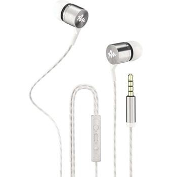 Слушалки Audictus Explorer 2.0 White AWE-1504, микрофон, AUX, бели image