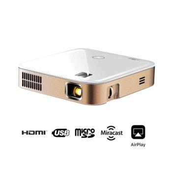 Проектор Kodak Luma 350, преносим, DLP, 720 x 1080 , 3500:1, 350 lm, HDMI, USB, Wi-Fi, Bluetooth, MicroSD image