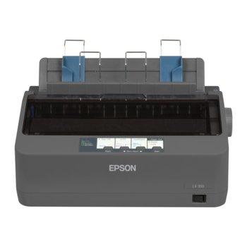 Матричен принтер Epson LX-350, 9pin/80col/357cps, Parallel & USB image