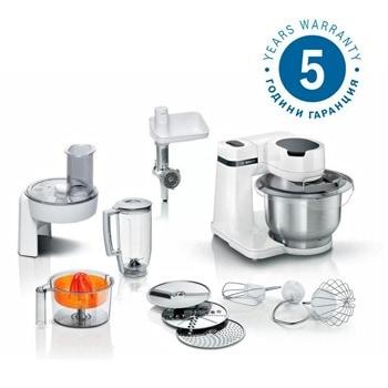 Кухненски робот Bosch MUMS2EW40, 700W, 3.8 л. купа, 4 скорости, бял image