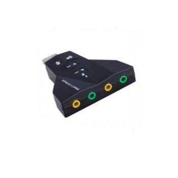 Външна звукова карта PD560, 7.1, USB, 4x 3.5мм жака image