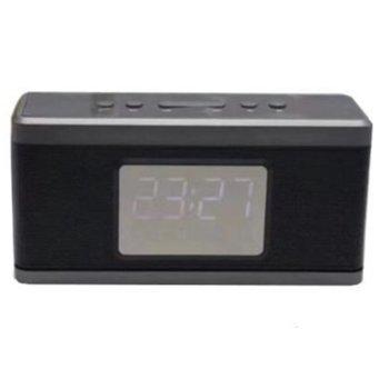 Тонколонa HOME SP CLOCK X32, 10W, 3.5mm жак, TF card, FM radio, MP3, чернa image