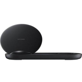 Безжично зарядно Samsung Wireless Charger Duo (Смартфон & смарт часовник), черен image