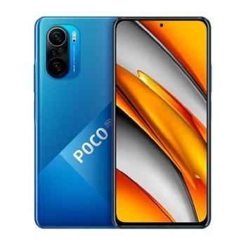 "Смартфон Xiaomi Poco F3 5G (син), поддържа 2 sim карти, 6.67"" (16.94 cm) AMOLED 120Hz HDR10+ дисплей, осемядрен Snapdragon 870 3.2 GHz, 8GB RAM, 256GB Flash памет, 48.0 + 8.0 + 5.0 & 20.0 MPix камера, Android, 196 image"