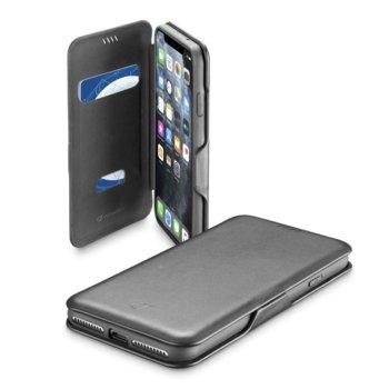 Калъф за Apple iPhone 11 Pro Max, Flip Wallet, кожа, Cellular Line Book Clutch, черен image
