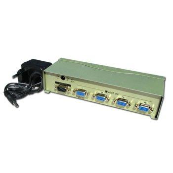 Видео сплитер Privileg VS-94A, от 1x VGA (м) към 4x VGA (ж), 1920x1440, 60Hz image