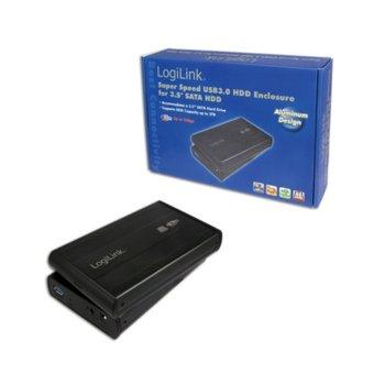 """Кутия 3.5""""(8.9 cm), LogiLink UA0107, за 3.5"""" SATA HDD, USB 3.0, черна image"""