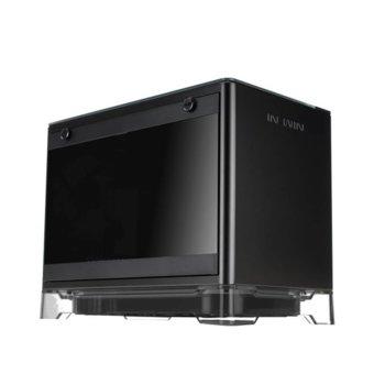 Кутия In Win A1 Black, Mini-ITX, 2x USB 3.0, прозорец, подсветка, безжично зарядно, черна, 600W 80 PLUS бронз захранване  image