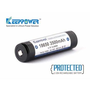 Акумулаторна батерия KeepPower 18650 Protected 10A, 18650, 3.7V, 3500mAh, Li-Ion, 1 брой image