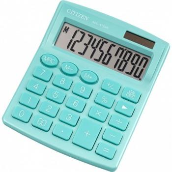 Калкулатор Citizen SDC-810GRE, 10-цифрен едноредов LCD дисплей, настолен, функция на паметта с 3 клавиша: MRC, M +, M-, автоматично изключване, зелен image
