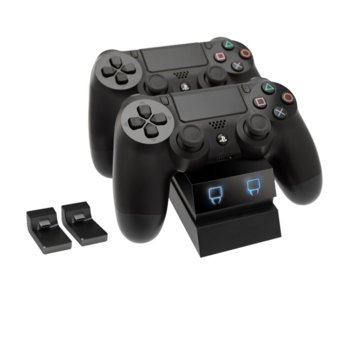 Докинг станция Venom VS2731, за зареждане на PlayStation 4 контролери, 2x адаптера, USB, черна image