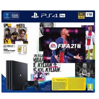 Конзола Sony PlayStation 4 Pro 1TB в комплект с FIFA 21, черна image
