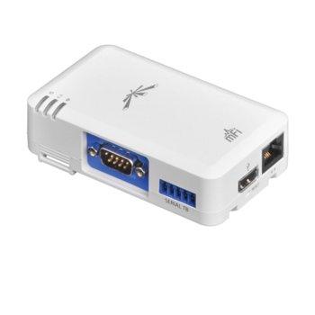 Смарт контролер Ubiquiti mPort-S, за mFi mPort системата на Ubiquiti, Wi-Fi, 1x 10/100 RJ-45, 1x mFi Terminal Block port, 1x Serial DB9 port, 2x вътрешна/външна антени image