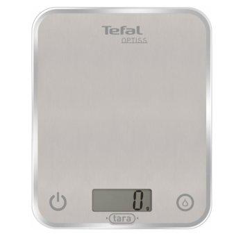 Кухненски кантар Tefal BC5004V1, Optiss, дигитален, капацитет 5кг, възможност за мерене в мл., ръчно и автоматично вкл/изкл, ултра тънък стъклен дизайн, бял image
