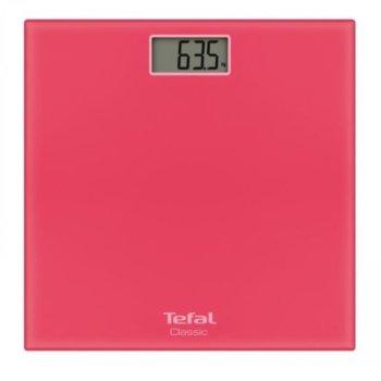 Цифров кантар Tefal PP1134V0, капацитет 160 кг, LCD дисплей, с включена батерия CR2032, розов image