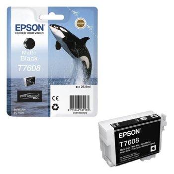Касета за Epson SureColor SC-P600 - Matte Black - T7608 - P№ C13T76084010 - 25.9ml image