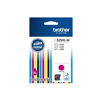 ГЛАВА ЗА BROTHER DCP-J100, DCP-J105, MFC-J200 Ink Cartridge High Yield for - Magenta - P№ LC525XLM- Заб.: 1300k. image