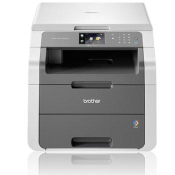 Мултифункционално LED устройство Brother DCP-9015CDW, цветен принтер/копир/скенер, 600 x 2400 dpi, 18стр/мин, USB, Wi-Fi/Direct, двустранен печат, A4 image