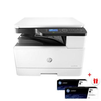 Мултифункционално лазерно устройство HP LaserJet MFP M436n с подарък две касети CF256X (Black), монохромен, принтер/копир/скенер, 600 x 600, 23 стр/мин, LAN, USB, A3 image