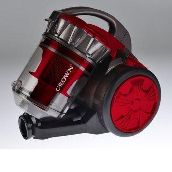 Прахосмукачка Crown VCJ-2080, без торба, 700W, 2 л. капацитет на контейнера, HEPA филтър, червена image