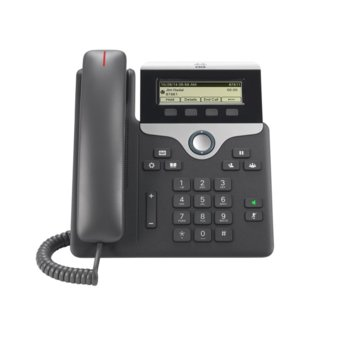 "VoIP телефон Cisco IP Phone 7811, 3.2"" (8.13 cm) LCD чернобял дисплей, 1 линии, 2x 10/100Base-TX, PoE, черен image"