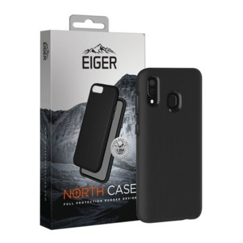 Калъф за Samsung Galaxy A30, хибриден, Eiger North Case EGCA00145, удароустойчив, черен image