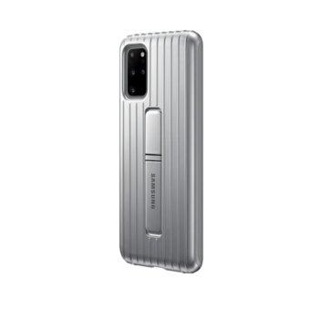 Калъф за Samsung Galaxy S20 Plus, хибриден, Samsung Protective Standing Cover EF-RG985CB, удароустойчив, с поставка, сребрист image