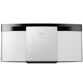 Аудио система Panasonic SC-HC2020EGK-W, 2.0, 20W RMS, Микро Hi-Fi система, с възможност за монтиране на стена, Bluetooth, USB, бяла image