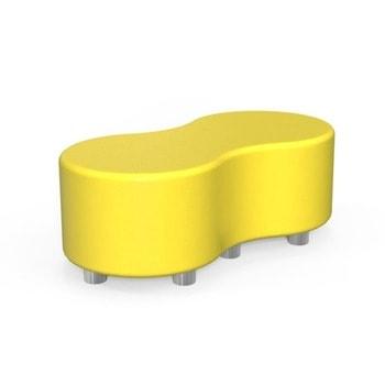 Табуретка RFG Formex, еко кожа, MDF основа, жълта image