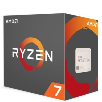 Процесор AMD Ryzen 7 1700x осемядрен (3.4/3.8Ghz, 4MB L2/16MB L3 Cache, AM4) BOX, без охлаждане image