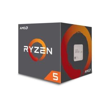 Процесор AMD Ryzen 5 1600 шестядрен (3.2/3.6GHz, 3MB L2/16MB L3 Cache, AM4), с охлаждане Wraith Spire image