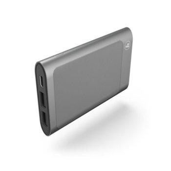 Външна батерия/power bank Hama HD-5, 5000 mAh, сив, USB Type C, to go image