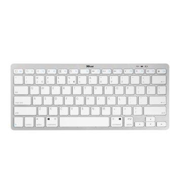 Клавиатура Trust Nado, безжична, бяла, Bluetooth image