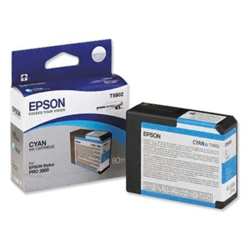 ГЛАВА ЗА EPSON STYLUS PRO 3800 - T5802 - Cyan - P№ C13T580200 - 80 ml image