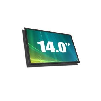 """Матрица за лаптоп Hewlett Packard LP140WH6-TJB1, 14.0"""" (20.32 cm) WXGA 1366:768 pix., гланцирана image"""