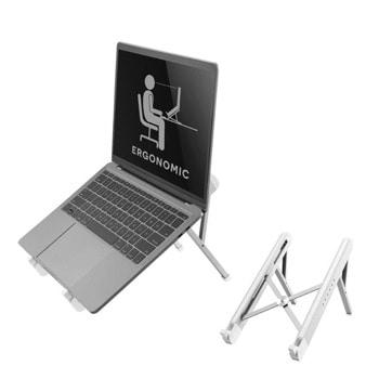 """Стойка за лаптоп NewStar NSLS010, от 11"""" до 17"""", 6 степени на височина, сгъваема, до 5кг., сребриста image"""
