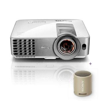 Проектор BenQ MS630ST с подарък тонколона Sony SRS-XB13 (кафява), DLP, SVGA (800x600), 13 000:1, 3200lm, HDMI, VGA, USB image
