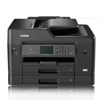 Мултифункционално мастиленоструйно устройство Brother MFC-J3930DW, цветен принтер/копир/скенер/факс, 4800 x 1200 dpi, 35 стр/мин, Wi-Fi, LAN, USB, A3, Touchscreen image