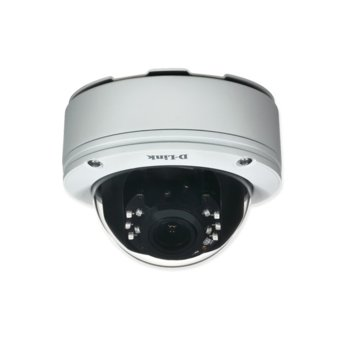IP камера D-Link DCS-7513, куполна, 5 Mpix(2560x1920@60fps), 3~10.5mm обектив, H.264/MJPEG, IR осветеност (до 20 метра), външна, IP68 защита, IK-10 вандалоустойчива, PoE, microSD слот, RJ-45 10/100 Base-TX image