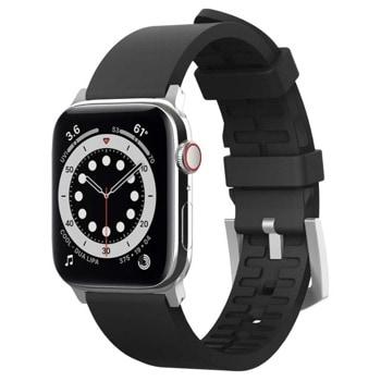 Каишка Elago Watch Sport Strap (EAW-BAND-40BK), силиконова, за смарт часовник Apple Watch 38/40mm, черна image