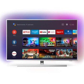 "Телевизор Philips 43PUS8505/12, 43"" (108 см), 4K UHD LED Android TV, HDR, DVB-T/T2/T2-HD/C/S/S2, 4x HDMI, 2x USB, Bluetooth, Wi-Fi, LAN, енергиен клас G image"