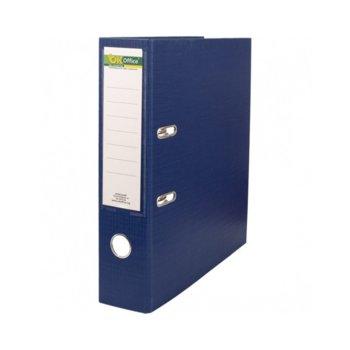 Класьор, за документи с формат до А4, дебелина 5см, с метален кант, син image
