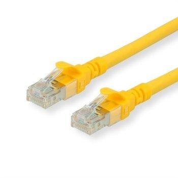 Пач кабел Roline, S/FTP, Cat.6a, 1m, жълт image