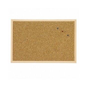 Коркова дъска, с дървена рамка, размер 900x1200 mm, кафява image