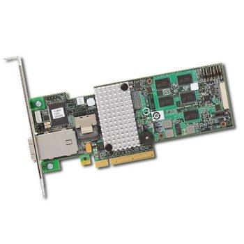 RAID Контролер LSI MegaRAID SAS 9280-4i4e,PCI-E 2.0 към mini-SAS (SFF8088) & mini-SAS (SFF8087), SATA/SAS 6Gb/s, 2 портов, 512MB RAM, поддържа RAID 0, 1, 5, 6, 10, 50, and 60 image