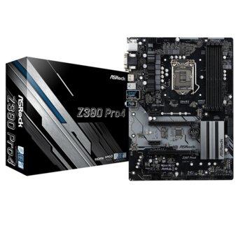 Дънна платка ASRock Z390-PRO4, Z390, 1151, DDR4, PCI-E(HDMI,DVI-D,D-Sub), 6x SATA 6Gb/s, 2x Ultra M.2, 4x USB 3.1 Gen2 Type-C, ATX image